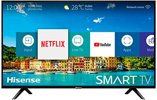 Hisense H32BE5500 Smart TV 32' (80 cm) HD, 2 HDMI, 2 USB, Uscita ottica e cuffie, Wifi, DBX Audio, processore Quad Core, Smart TV VIDAA U 2.5