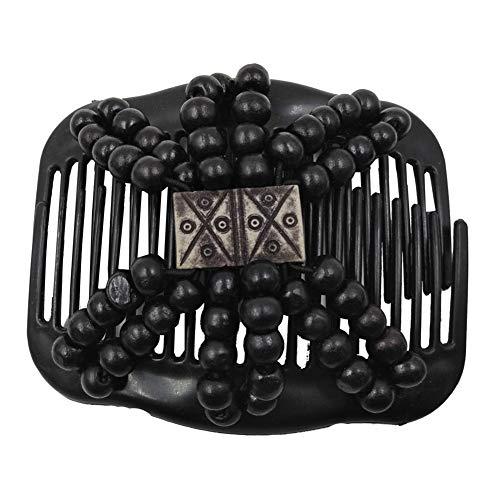 ZHOUBA Haarspange für Damen, mit Holzperlen, dehnbar