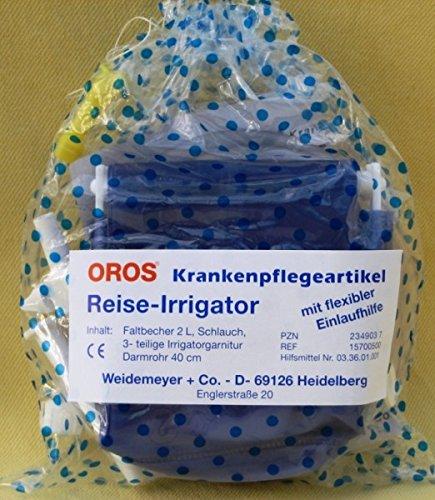 Vitalife-Versand Oros Reise-Irrigator, 1er Pack - mit extra Darmrohr (Einlauf-Gerät)