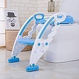 Keraiz Baby Toddler Potty Training Toilet Ladder Seat Steps (Blue)