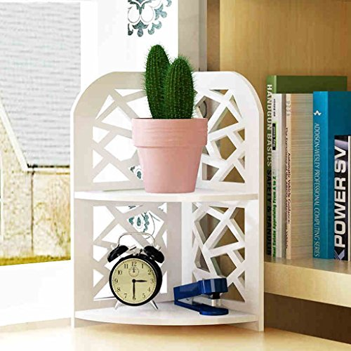 LT Storage Tower Desktop Shelf Schreibtisch Storage Unit Student Combination Bücherregal Schublade Haushalt (weiß, 2 Layer) -
