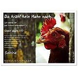 Einladungskarten zum Geburtstag Erwachsene, Mann Frau - für jedes Alter Wunschalter 30 40 50, 40 Karten - 17 x 12 cm