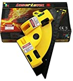 #3: Techtest Right Angle 90 Degree Vertical Horizontal Laser Level Line Projection Square Pro Beam Light Leveling Aligner Measurement Tool With Two Suction Cups Portable 90° Chalk Lines Meter Working Increments For Woodworking Wall Fixtures Stenciling