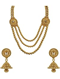 MUCH MORE 18k Gold Plated Necklace Set For Women & Girls Wedding Jewelry