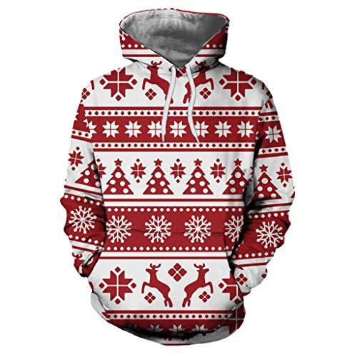 Soupliebe Damen Frohe Weihnachten Print Pregnants Pflege Bluse Mutterschaft T Shirt Tops Kapuzen Kapuzenpullover Hoodie Pullover Sweatshirt