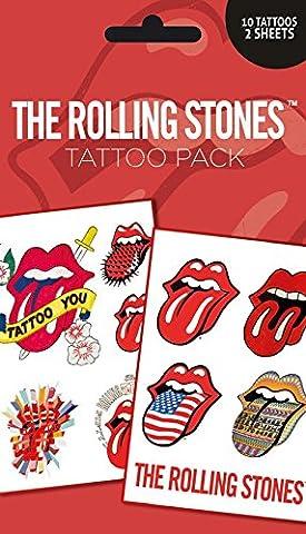GB Eye Ltd, The Rolling Stones, Lips, Set de tatouages