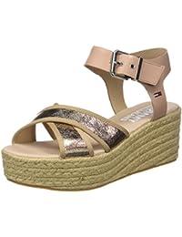 Hilfiger Denim Damen Metallic Flatform Sandal Plateausandalen