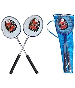 Boka Professional Unisex Badminton Racquets Set of 2 with Cover