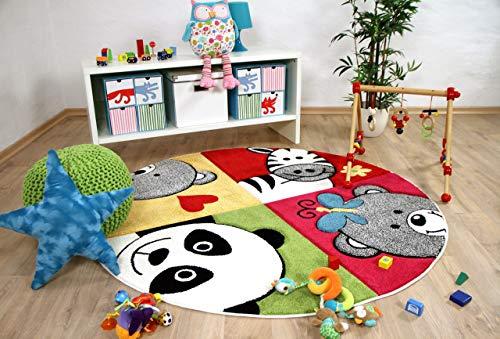 Savona Kinder Teppich Kids Lustige Zootiere Bunt in 3 Größen -