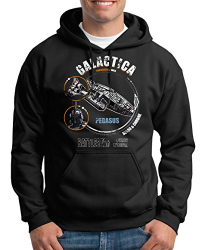 TLM Galactica Kapuzenpullover Herren XXXXL Schwarz