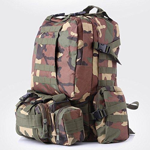 HOUTBY® Borsa a tracolla unisex tattico militare zaini tattico camuffamento zaino di campeggio Escursionismo Bag mimetica giungla