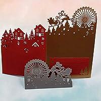 BINGHONG3 Carbon Steel Ferris Wheel Deer Pattern Cutting Die Embossing Stencil Mold For DIY Paper Art Handcraft Scrapbook Card Decor Tool