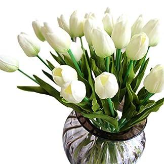 Ramo de 10 tulipanes artificiales GKONGU, de látex, naturales y realistas para decorar bodas, fiestas