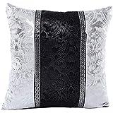 LHWY 2016 Vintage 45cm x 45cm Cuir Noir Blanc Couverture Coussin Case
