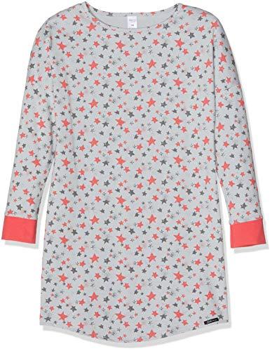 Skiny Mädchen Wonderland Sleep Girls Sleepshirt Langarm Nachthemd, Mehrfarbig (Grey Stars 6619), 164