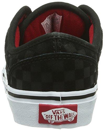 Vans Y Atwood, Baskets mode mixte enfant Noir (Black/Red)