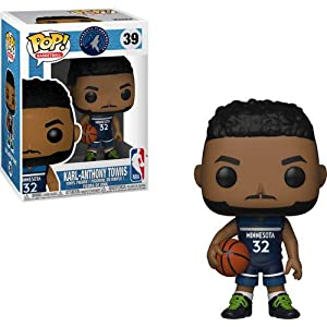 Funko Pop Karl-Anthony Towns Minnesota Timberwolves camiseta azul (NBA 39) Funko Pop NBA