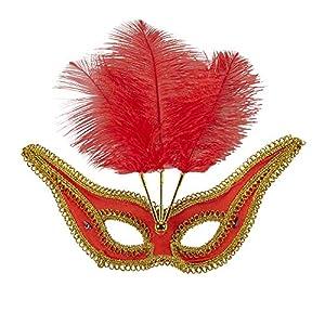 WIDMANN Genérico-Lobo barroco con PLUMETTES rojas mujer