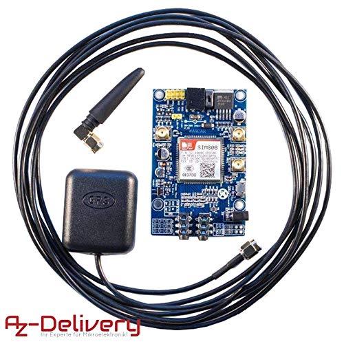 AZDelivery ⭐⭐⭐⭐⭐ SIM 808 GPRS/GSM Shield mit GPS Antenne für Arduino und GRATIS eBook! (Gmt Auto)