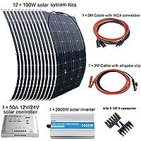 XINPUGUANG Panel Solar Flexible 100W 18V monocristalino fotovoltaico PV Solar Panel Module Compatibilidad con 18V y