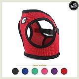 Pets&Partner® Hundegeschirr Soft Air Mesh Weste in verschiedenen Farben für kleine bis mittelgroße Hunde, M, Rot