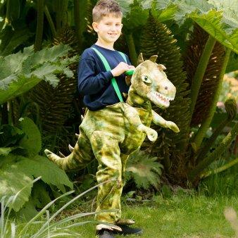 Generique - Dinosaurier Carry Me Kostüm für Kinder grün 116/128 (6-8 - Kind Grün T Rex Kostüm