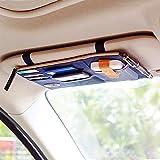 G2PLUS New Multi-purpose Pouch Auto Car Sun Visor Organizer Pouch Bag Card Storage Holder 29 cm * 14cm (Blue)