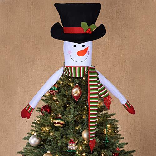 JINSEY Weihnachtsbaumspitze Schneemann Baumspitze Schneemann Hugger - Weihnachten Urlaub Winter Wunderland Party Dekoration Zubehör (Topper Hut Baum)