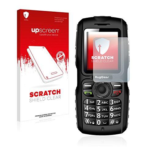 upscreen Schutzfolie kompatibel mit RugGear RG100 - Kristallklar, Kratzschutz, Anti-Fingerprint
