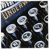 RONI Chastain Fotografie–CLOSE UP Foto von eine alte Schreibmaschine–Untersetzer, keramik, set-of-4-Ceramic