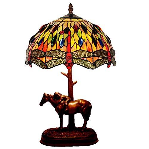 WY-LIGHT 12 Zoll Tischlampe Tiffany StyleTable Lampe Europäische Pastorale Lampe Kreative Schlafzimmer Nachttischlampe Leselampe -