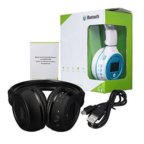 Cuffia Bluetooth, ELEGIANT 4in1 Ricaricabile Cuffia Senza Fili Bluetooth 3.0 Stereo Headset Pieghevole Auricolare Alta Qualità Su Ear Headset Hands-free con il Mic/Radio FM/TF Slot SD/3.5mm Input Compatibile con i Telefoni Cellulari IPhone 6 6plus iPad Samsung Notebook Tablets Smartphone e Altri Dispositivi Bluetooth