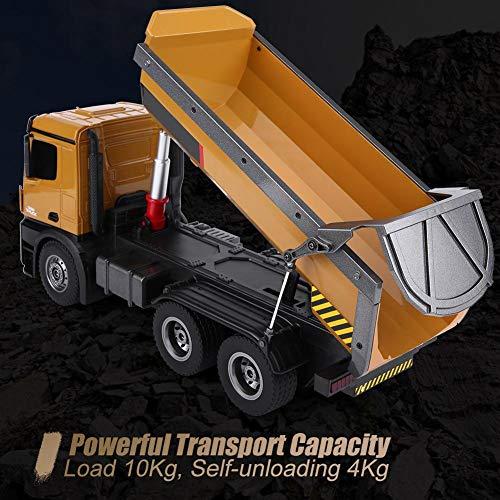 RC Auto kaufen Baufahrzeug Bild 2: Dilwe RC Muldenkipper, HUINA 1573 1/14 Skala 2,4 GHz RCDumping Truck Auto Fernbedienung Engineering Fahrzeug Spielzeug Geschenk für Kinder*
