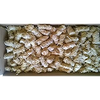 Amafino Anzünder 500 Stück Kaminanzünder Ofen Holzwolle Bioanzünder Wachs Grillanzünder