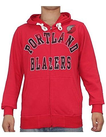 NBA Portland Trail Blazers Mens Athletic Warm Zip-Up Hoodie / Jacket XL Red