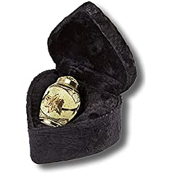 Elegante Beautifully Hand Crafted Solid Brass Keepsake with Cream Wash Finish and Elegant Velvet Case