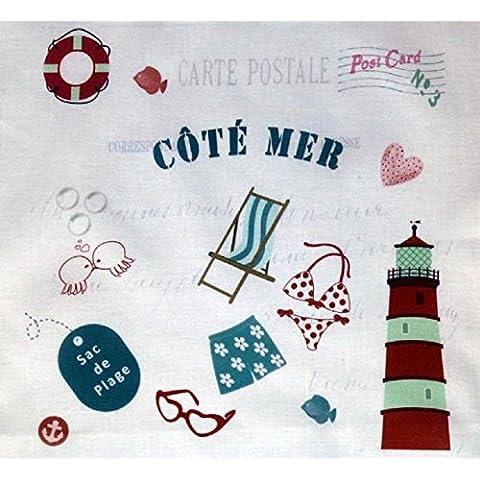 La Boîte à Broder COU058MB - Scampolo di tessuto stampato con dicitura in francese