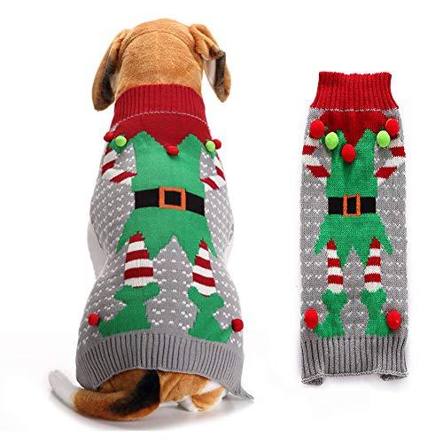 Yu-Xiang Weihnachtspullover für Hunde, Clown-Kostüm, für den Winter, warme Kleidung, (Lustige Hunde Und Besitzer Kostüm)
