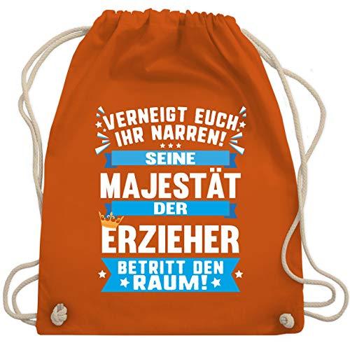 Sonstige Berufe - Seine Majestät der Erzieher - Unisize - Orange - WM110 - Turnbeutel & Gym Bag