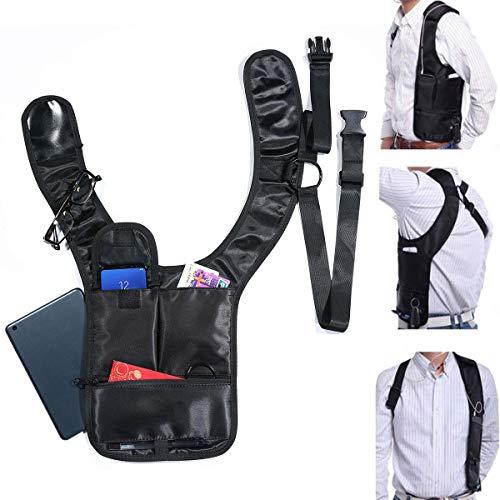 Womdee Anti-Dieb Schultertasche Nylon versteckte Unterarmbörse versteckt Pack Mehrzweck Herren/Frauen Sicherheit Aufbewahrung Achselholster Tasche für Reisen -