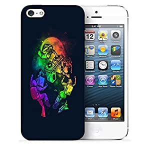 Snoogg Dj Astronaut Designer Protective Back Case Cover For IPHONE SE