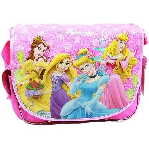 Messenger-Borsa, motivo: Principesse Disney, colore: rosa-Borsa porta libri di scuola 00168-2