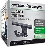 Rameder Attelage rotule démontable pour Dacia SANDERO II + Faisceau 13 Broches...