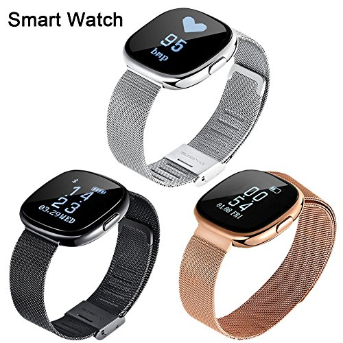Reloj Inteligente smartwatch con Bluetooth Fitness Tracker Pulsera Actividad Inteligente Podómetro Reloj Deportivo con Podómetro, Sueño, Calorías Samsung Sony Huawei Android para Hombres Mujeres