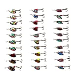 LSHEL 30pcs Spinner Set Cucharillas Pesca para Lucio Perca...
