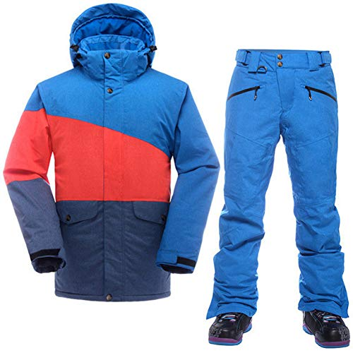 KUNHAN Skibekleidung für Herren Männer Berg Skianzug Für Männer wasserdichte Thermische Snowboardjacke + Skihosen Atmungsaktiv Winter Schnee