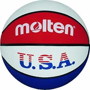 Molten Ballon de basket pour l'entraînement aux couleurs des Etats-Unis Couleurs: bleu/blanc/rouge -Taille 3