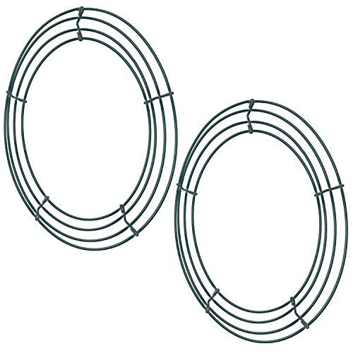 Draht Kranz Rahmen Draht Kranz Herstellung Ringe 12 Zoll Grün für Weihnachtsdekoration