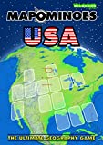 MAPOMINOES USA – The Ultimate Geography Game – Fun & educational travel card game about US states for kids teens and adults