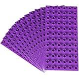 Premium Big Briks Purple Baseplate Set - 12 Pack - (Big LEGO DUPLO Compatible) - Large Pegs